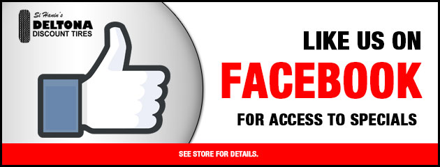 Like us on Facebook for access to specials
