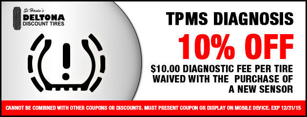 TPMS Diagnosis $10. Fee waived with purchase of new sensor.