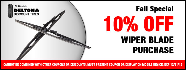 Fall Special - 10% off wiper blade purchase