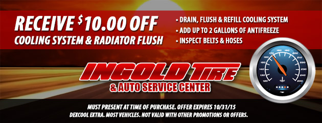 $10 OFF Cooling System and Radiator Flush