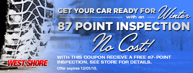 Get Your Car ready for the Winter with an - 87 Point Inspection