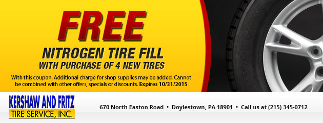 Free Nitrogen Fill with Tire Purchase