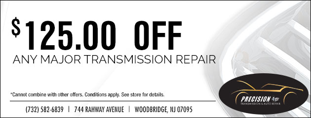 $125.00 Off Any Major Transmission Repair