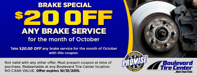 $20 Off Brake Service Coupon
