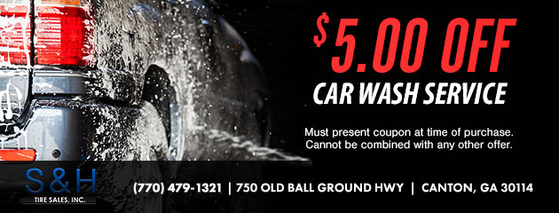 $5.00 Off Car Wash Service
