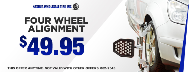 Four Wheel Alignment Special -$49.95