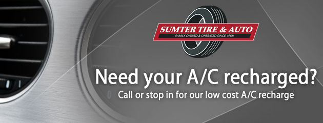 Need your A/C recharged? Call or stop in for our low cost A/C recharge