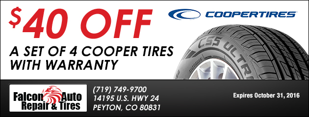 $40 Off a Set of 4 Tires with Warranty