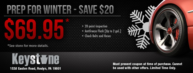 Winterize Special $69.95 - Prep for Winter- Save $20