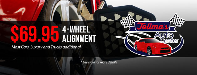 $69.95  - Four (4) Wheel Alignment