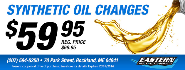 Synthetic Oil Changes - $59.95