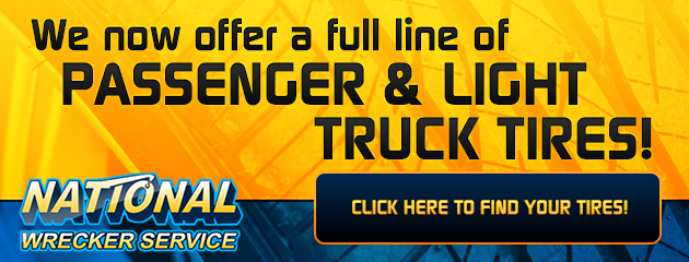 We now offer a full line of Passenger and Light Truck Tires!