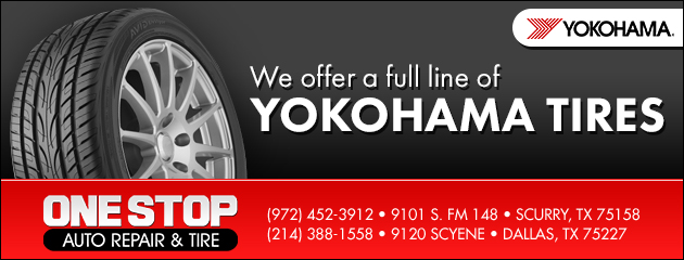 We offer a full line of Yokohama Tires