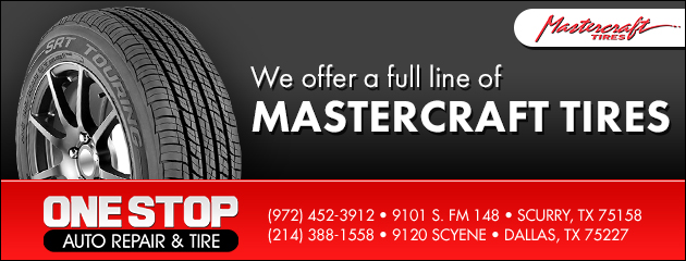 We offer a full line of Mastercraft Tires