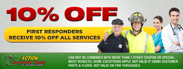 First Responders receive 10% off all services