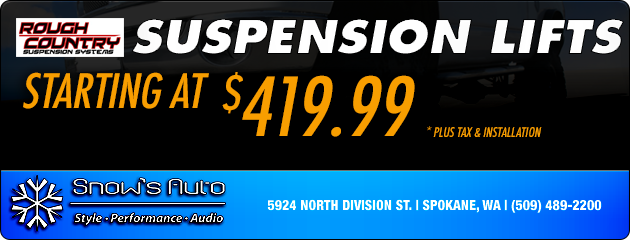 Rough Country Suspension Lifts starting at $419.99