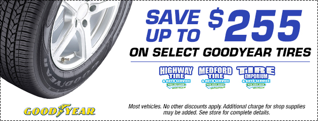 SAVE UP TO $255 on select Goodyear Tires
