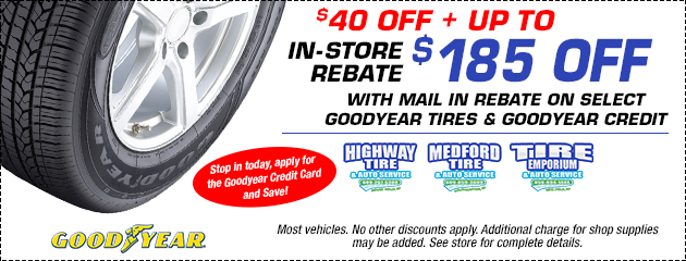 Save on Goodyear Tires!