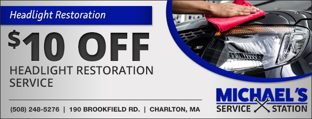$10 Off Headlight Restoration Service Special