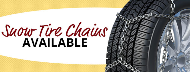 Snow Tire Chains Available