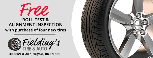 Free Roll Test and Alignment Inspection with purchase of 4 new tires