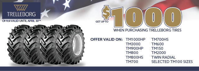 $1,000 Rebate and select tires