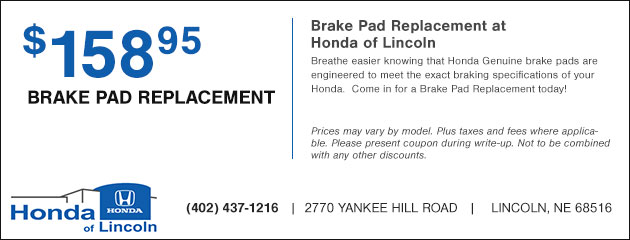 Brake Pad Replacement - $158.95