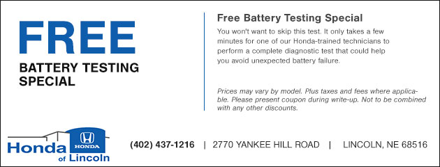 Free Battery Testing Special