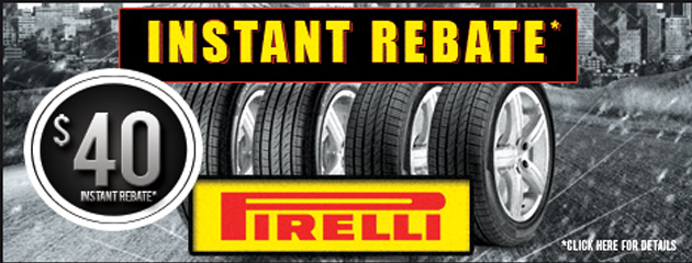 $40 Instant Rebate on Pirelli Tires