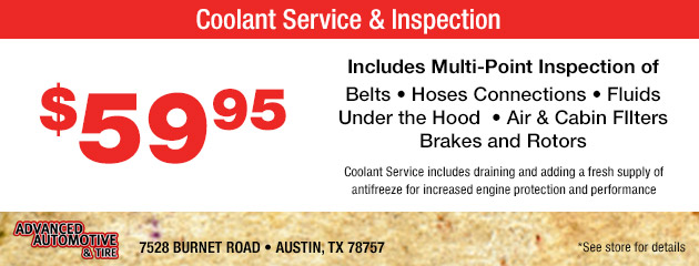 Coolant Service and Inspection Special