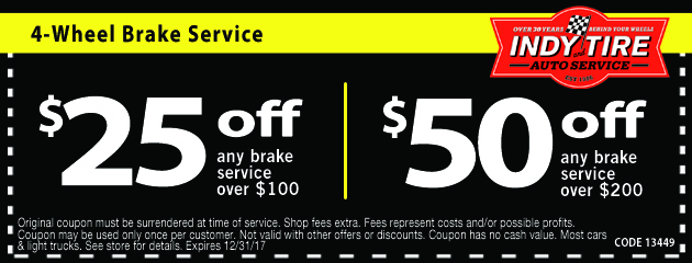 Save Up to $50 Off Brake Services