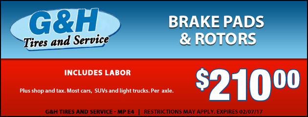 Brake Pads and Rotors