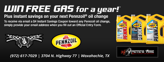 Win Free Gas for a Year!