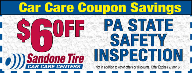 $6 Off PA State Safety Inspection
