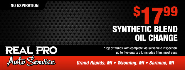 $17.99 Synthetic Blend Oil Change Coupon