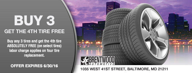 Buy 3 Get 4th Tire FREE