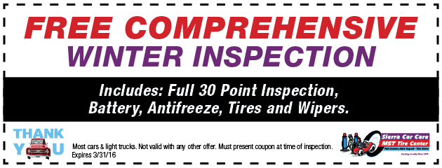 Free Comprehensive Winter Inspection