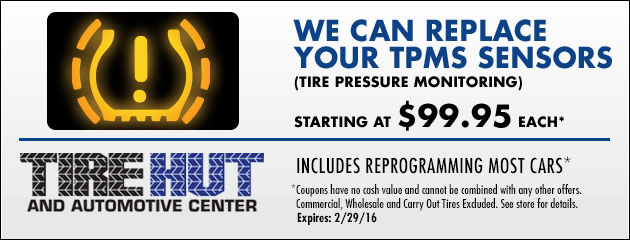 We can replace your TPMS - Starting at $99.95 each