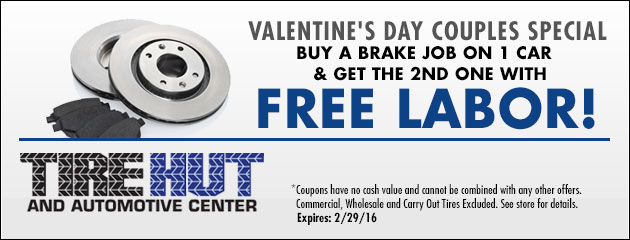 Buy a Brake job on 1 car and get the 2nd one with Free labor