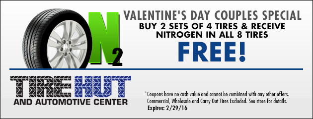Buy 2 sets of 4 tires and receive Nitrogen in all 8 Free