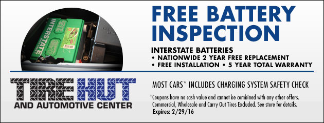 Interstate Batteries - Free Charging System Safety Check