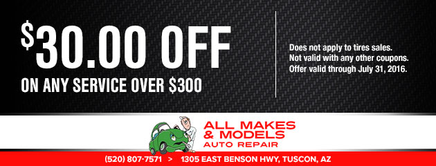 $30 off on any service over $300