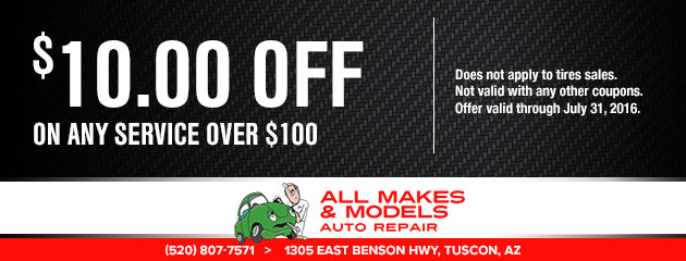 $10 off on any service over $100