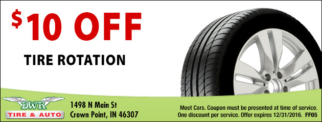 $10 Off Tire Rotation
