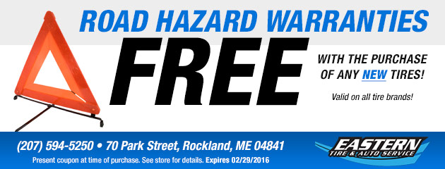 Road Hazard Warranties on Any Tire Brands