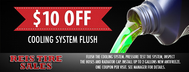 $10.00 Off Cooling System Flush