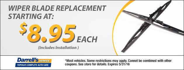 Wiper Blade Replacement Starting at $8.95