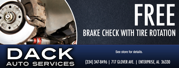 Free Brake Check with Tire Rotation