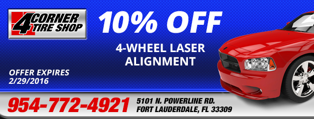 10% Off 4-Wheel Laser Alignment Coupon