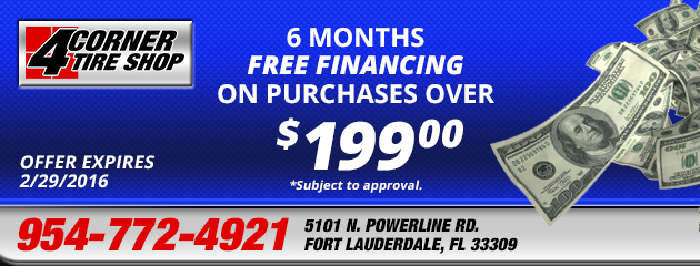 6 Months FREE Financing on purchases >$199